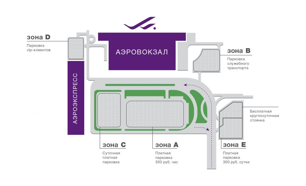 Схема парковки в аэропорту Владивостока